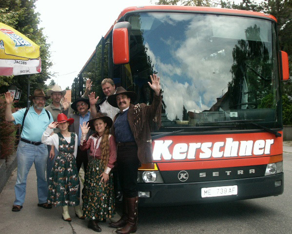 Bus tour in Austria with The Sunset Pioners