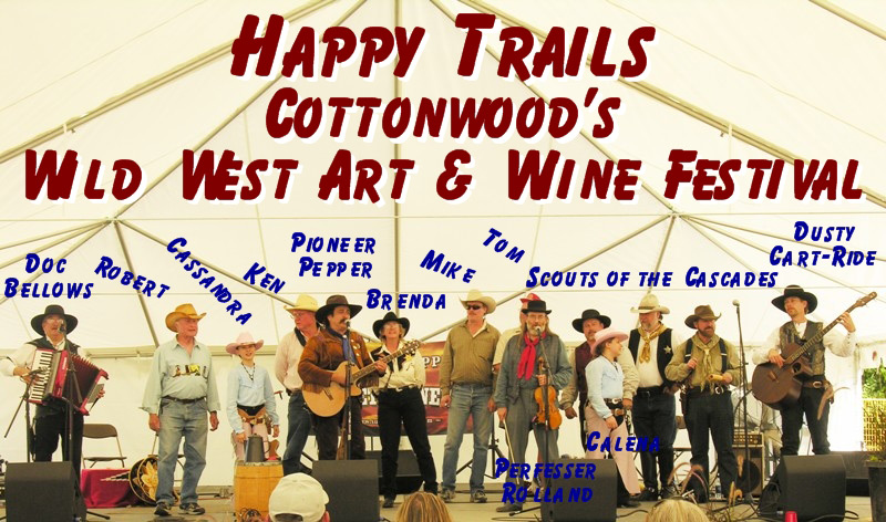 Pioneer Pepper & The Sunset Pioneers on stage at the Wild West Art & Wine Festival in California