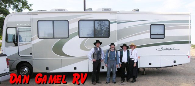The Sunset Pioneers tour motor home