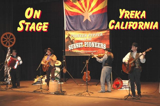Pioneer Pepper & The Sunset Pioneers on stage in Yreka California
