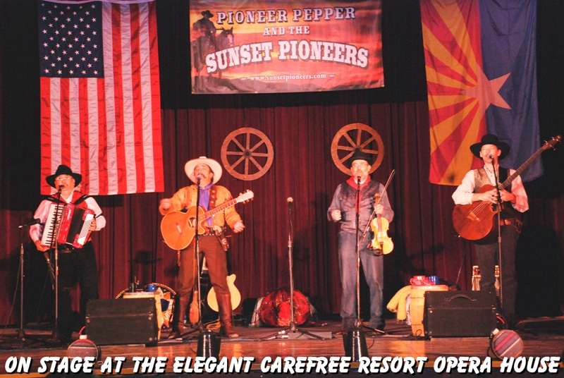 Pioneer Pepper & The Sunset Pioneers perform at the Carefree Resort