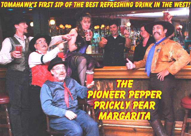 Drinking the Pioneer Pepper Prickly Pear Margarita