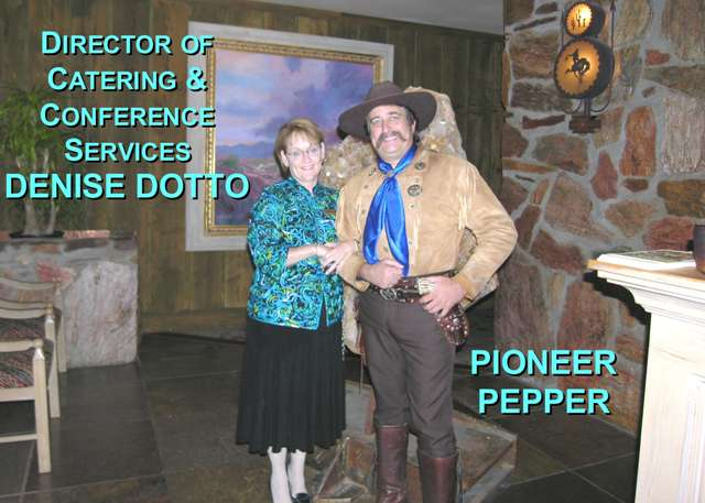 Pioneer Pepper with Denise at the Carefree Resort