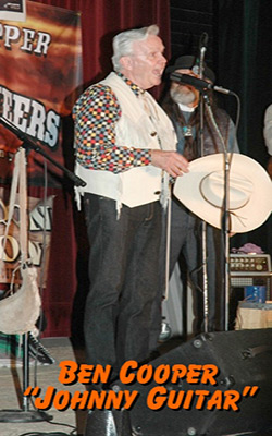 Ben Cooper (Johnny Guitar) entertains with The Sunset Pioneers at the Western Film Festival in Tombstone