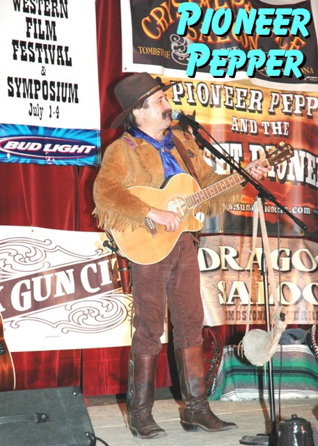 Pioneer Pepper performs at the Little House on the Prairie reunion at the Western Film Festival in Tombstone Arizona