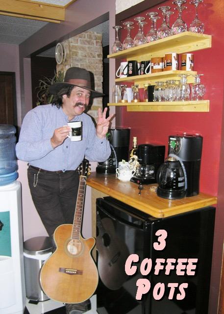 Pioneer Pepper & 3 coffee pots