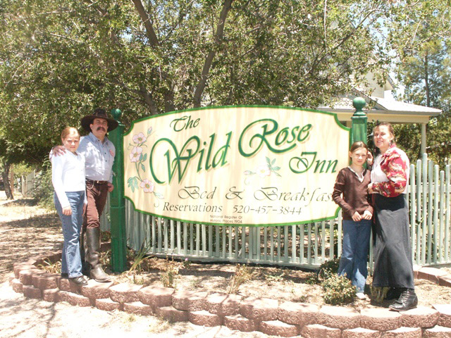 The Sunset Pioneers stay at the Wild Rose Inn in Tombstone during their performance at the Little House on the Prairie TV show reunion
